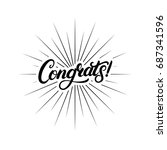congrats hand written lettering ... | Shutterstock . vector #687341596