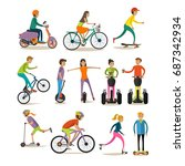 set of characters  sport and... | Shutterstock . vector #687342934