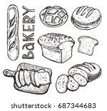 hand drawn doodle  bakery | Shutterstock .eps vector #687344683