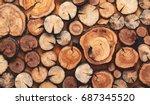 Wooden Natural Cut Logs...