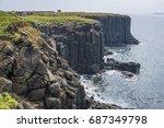 special geology of columnar...   Shutterstock . vector #687349798