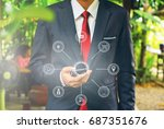 multichannel online banking... | Shutterstock . vector #687351676
