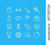 vector illustration of 16... | Shutterstock .eps vector #687353704