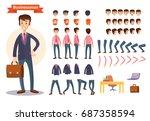 set of vector cartoon... | Shutterstock .eps vector #687358594