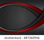 vector of abstract metallic...   Shutterstock .eps vector #687360946