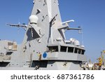 part of a combat ship ... | Shutterstock . vector #687361786