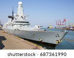 destroyers of type 45 daring....   Shutterstock . vector #687361990