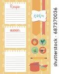 vector template of recipe card. ... | Shutterstock .eps vector #687370036