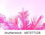 Bright Pink Coco Palm Tree Lea...
