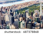 aerial view of midtown... | Shutterstock . vector #687378868