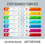 vector infographics designed to ... | Shutterstock .eps vector #687385408