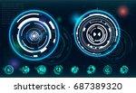 hud ui for business app....   Shutterstock .eps vector #687389320