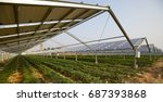 solar photovoltaic panels and... | Shutterstock . vector #687393868