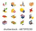 online shopping   isometric... | Shutterstock .eps vector #687395230