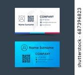 business card template design.... | Shutterstock .eps vector #687396823