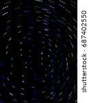 light movement on the dark... | Shutterstock . vector #687402550