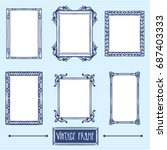 vintage frame set calligraphic... | Shutterstock .eps vector #687403333