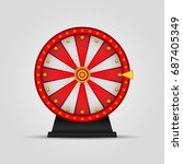 wheel of fortune icon  roulette.... | Shutterstock .eps vector #687405349
