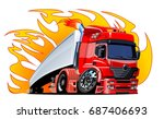 cartoon semi truck. available... | Shutterstock .eps vector #687406693