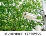 close up security surveillance...   Shutterstock . vector #687409900