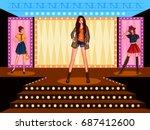 vector design of beautiful... | Shutterstock .eps vector #687412600