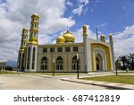 the side of gold mosque in... | Shutterstock . vector #687412819