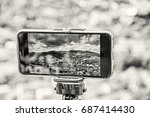 smart phone mobile photography... | Shutterstock . vector #687414430