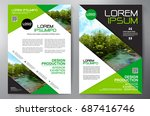 business brochure. flyer design.... | Shutterstock .eps vector #687416746