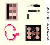 vector cosmetics alphabet | Shutterstock .eps vector #687417343