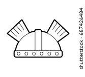 game warrior helmet icon | Shutterstock .eps vector #687426484