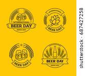 international beer day  beer... | Shutterstock .eps vector #687427258