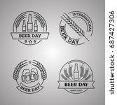 international beer day  beer... | Shutterstock .eps vector #687427306