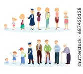from young to old. woman and... | Shutterstock .eps vector #687430138