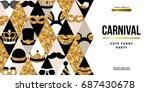 carnival party creative gold... | Shutterstock .eps vector #687430678
