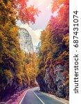 road in mountains  autumn... | Shutterstock . vector #687431074