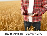smart farming using modern... | Shutterstock . vector #687434290