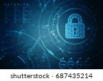 2d illustration safety concept  ... | Shutterstock . vector #687435214