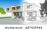 townhouse  3d illustration | Shutterstock . vector #687435964
