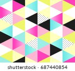 cute 80's style seamless... | Shutterstock .eps vector #687440854