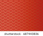 chinese traditional oriental... | Shutterstock .eps vector #687443836