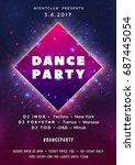 dance party poster vector...   Shutterstock .eps vector #687445054