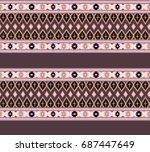 striped  seamless pattern. | Shutterstock . vector #687447649