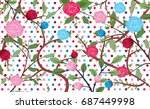 abstract flower background | Shutterstock .eps vector #687449998