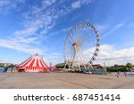 ferris wheel in amusement park | Shutterstock . vector #687451414