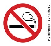 no smoking sign | Shutterstock .eps vector #687458950