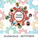 flat design illustration... | Shutterstock .eps vector #687474844