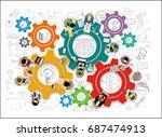 flat design illustration...   Shutterstock .eps vector #687474913