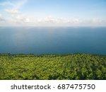bird eye view of seascape in... | Shutterstock . vector #687475750