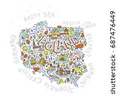 the map of the poland with the...   Shutterstock .eps vector #687476449