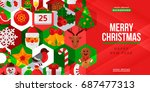 christmas and new year creative ... | Shutterstock .eps vector #687477313